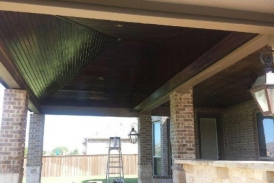 Espresso Patio Cover with Clear Coat