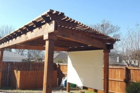 cedar arbor with beams 2
