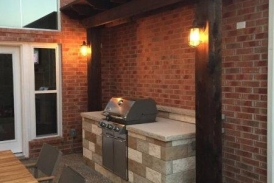 Small Pergola with Lights