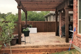Pergola with Stamp and Stain Concrete