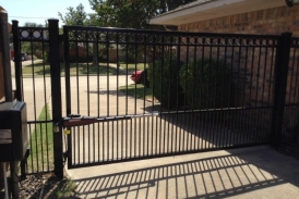 6' Automatic Wrought Iron Swing Gate