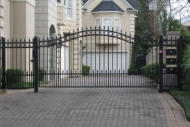 6' Automatic Wrought Iron Swing Gate(1)