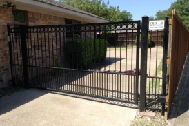 6' Automatic Wrought Iron Swing Gate_