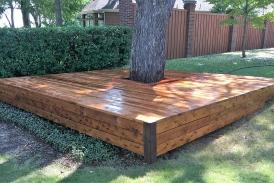 Stained Cedar Deck