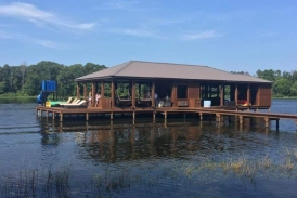 Sable Lakehouse Dock Stain