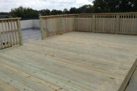 Treated Pine Rooftop Deck