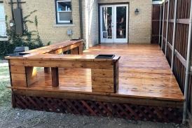 Custom Deck with Built In Benches