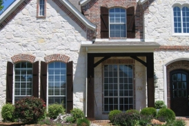 Dark Walnut Shutters - Columns