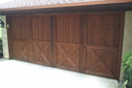 Pecan Ready Seal Garage Door