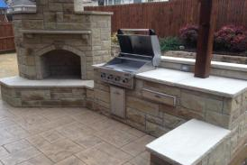 Lueder Outdoor Kitchen and Fireplace