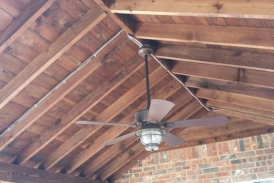 Cedar Patio Cover with Fan
