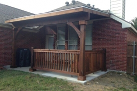 Flat Patio Cover with Handrail_