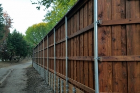 Pine Retaining Wall