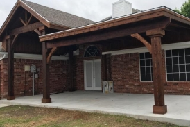 gable flat patio cover