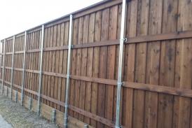 8' BOB with Pine Retaining Wall
