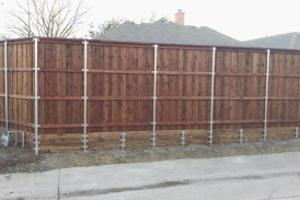 cedar with pine retaining wall