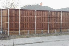 cedar with pine retaining wall