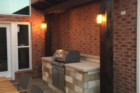 Grill Enclosure with Pergola