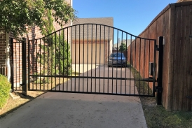 Arched Iron Swing Gate