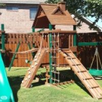 Plano fence staining